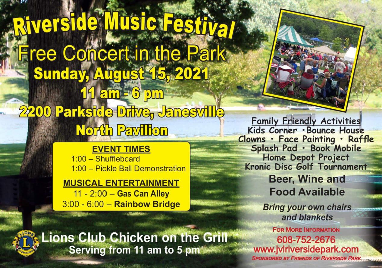 2021 Riverside Park Music Festival poster