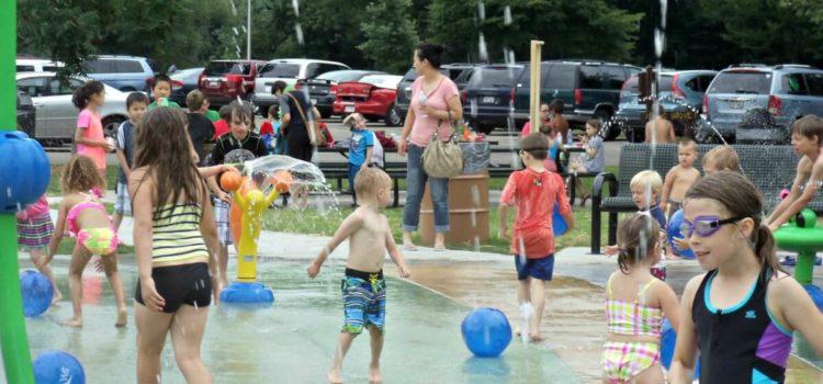 Janesville's only splash pad, Riverside Park